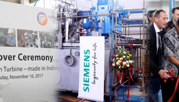 "PT REKADAYA ELEKTRIKA MENERIMA SST-140 PT SIEMENS INDONESIA DALAM ""HANDOVER CEREMONY INDUSTRIAL STEAM TURBINE – MADE IN INDONESIA"""